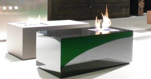 Bio ethanol 1 burner freestanding socle