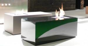 Bio ethanol 1 burner freestanding socle