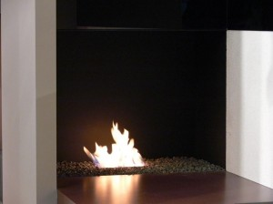 Bio ethanol 1 burner integrated