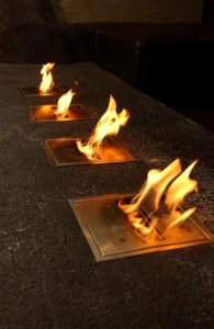 Bio ethanol 4 burners socle integration